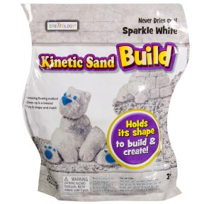 Kinetic Sand Build 1lb White Glitter Sand