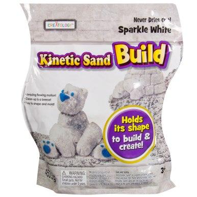 Kinetic Sand Build 1lb White Glitter Sand