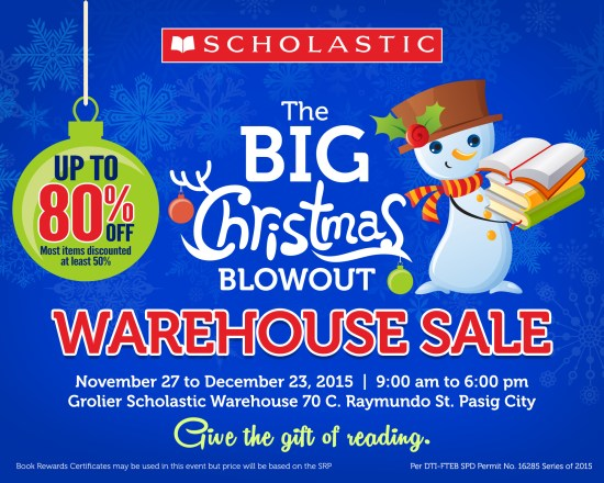 Scholastic Christmas Warehouse Sale 2015