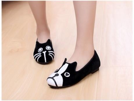 Sapatos PH Cat Dog Mismatch Shoes
