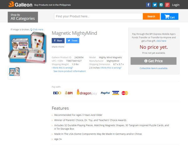 Galleon PH Magnetic MightyMind