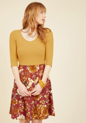 ModCloth Ready for the Jetty Twofer Dress in Marigold