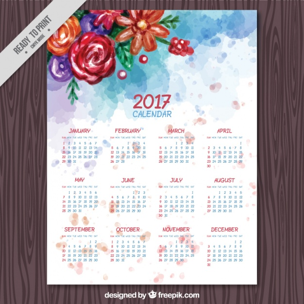 2017-calendar-with-watercolor-flowers_23-2147589341