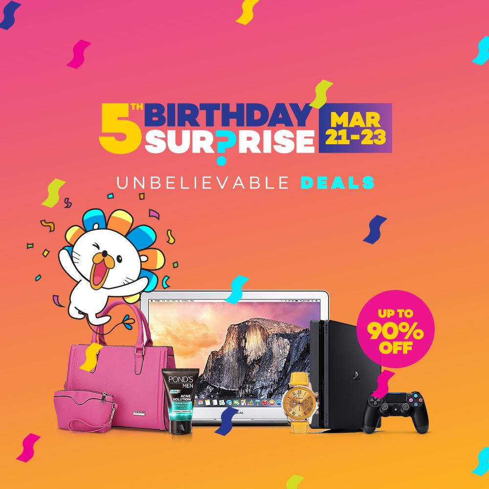 a7edd973e25 Lazada 5th Birthday SALE - Flash Sale Schedule