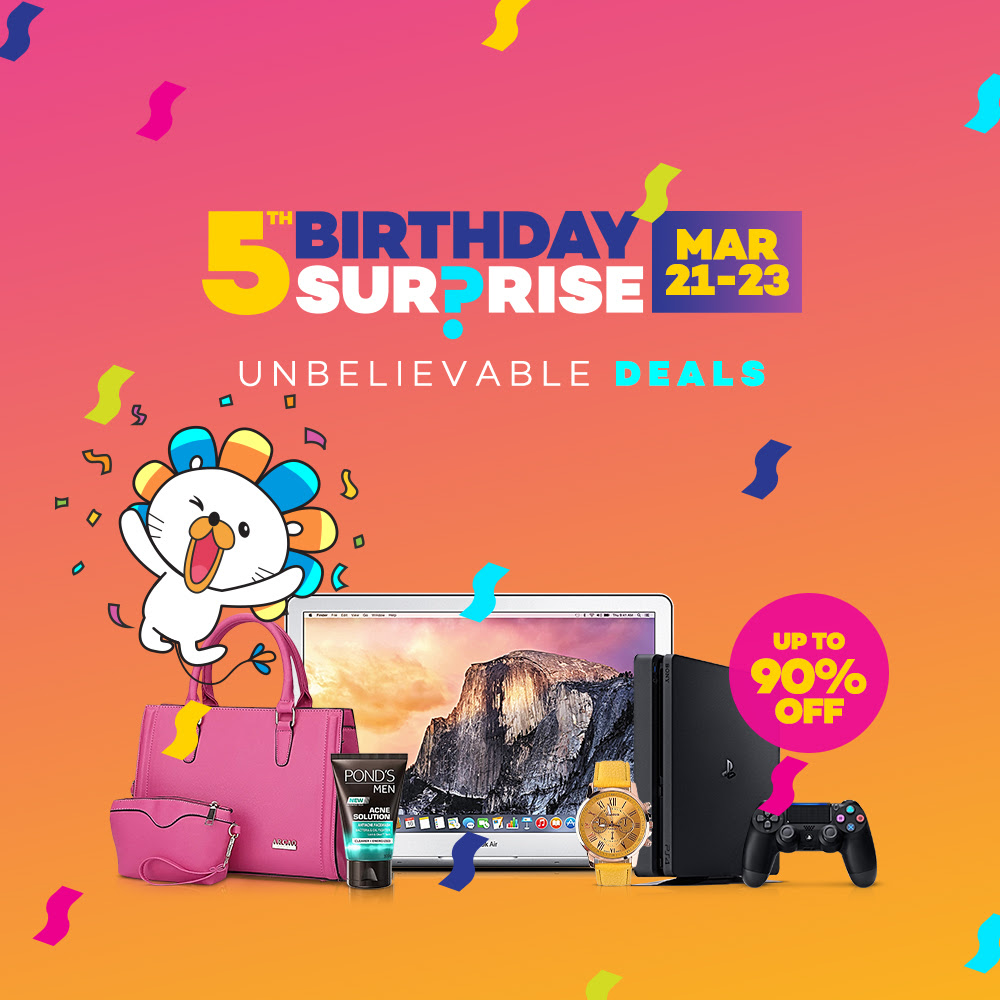 lazada 5th birthday sale flash sale schedule