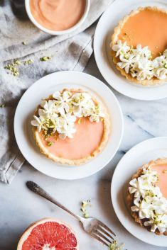GRAPEFRUIT CURD TARTS plus CHAMOMILE WHIPPED CREAM