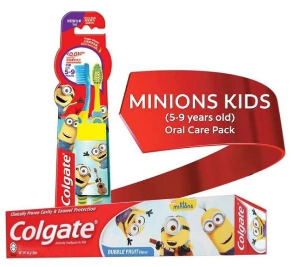 Colgate Minions Kids 5-9 Years Old (Youth) Oral Care Pack