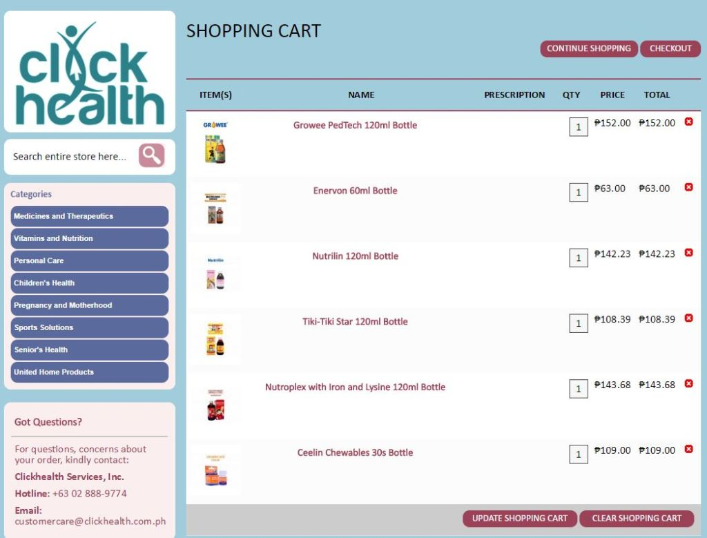 Shop Vitamins and Medicines Online PH
