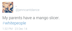 Jenn loves white people, and white people love mangoes