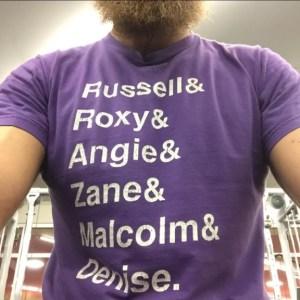 Max's workout shirt