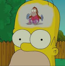 monkey cymbal homer thinking