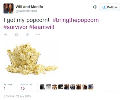 Will has popcorn