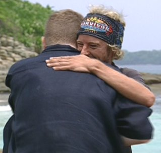 Thunder D hugs Jonny Fairplay