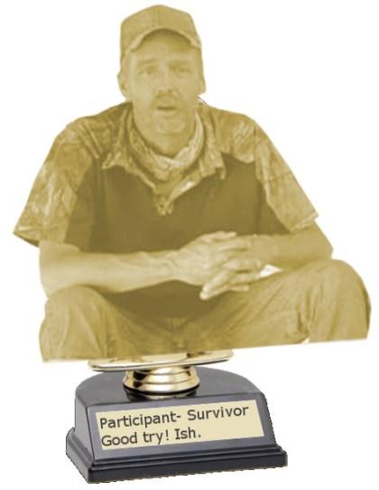 Keith Survivor participation trophy