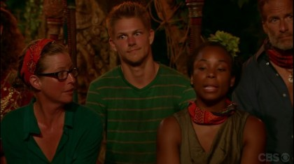 Cambodia- Spencer big eyes at tribal council