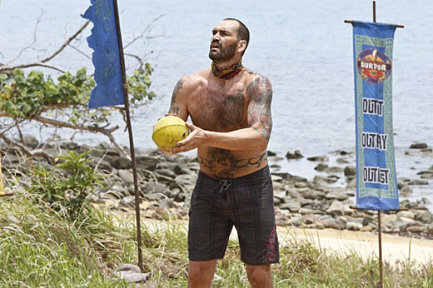 """Play or Go Home"" -- Scot Pollard during the sixth episode of SURVIVOR KAOH: RONG -- Brains vs. Brawn vs. Beauty. The show airs, Wednesday, March 23 (8:00-9:00 PM, ET/PT) on the CBS Television Network. Photo: Robert Voets /CBS Entertainment ©2016 CBS Broadcasting, Inc. All Rights. Reserved."