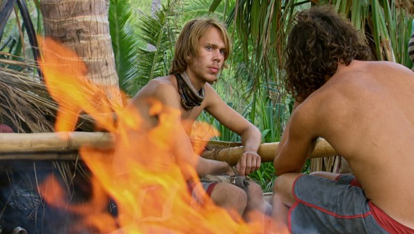 """Slayed The Survivor Dragon"" - Adam Klein and Justin Starrett on the thirteenth episode of SURVIVOR: Millennials vs. Gen. X, Wednesday, Dec. 7 (8:00-9:00 PM, ET/PT) on the CBS Television Network. Photo: Screen Grab/CBS Entertainment ©2016 CBS Broadcasting, Inc. All Rights Reserved."
