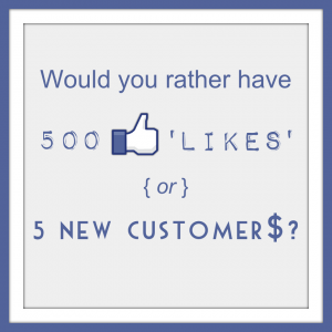 Likes or Customers?
