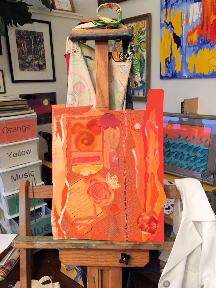 Piece in studio