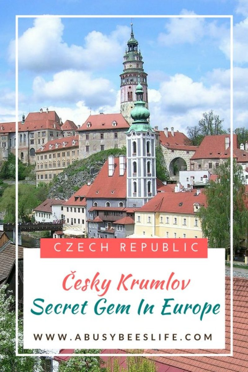 Český Krumlov - A beautiful medieval town, and a secret gem in Europe. Walk down it's famous cobble stone streets, on your way to see it's 13th-century castle. This beautiful fairy tale town is one of the most beautiful places in the Czech Republic. #ceskykrumlov #czechrepublic #europe #medivaltown