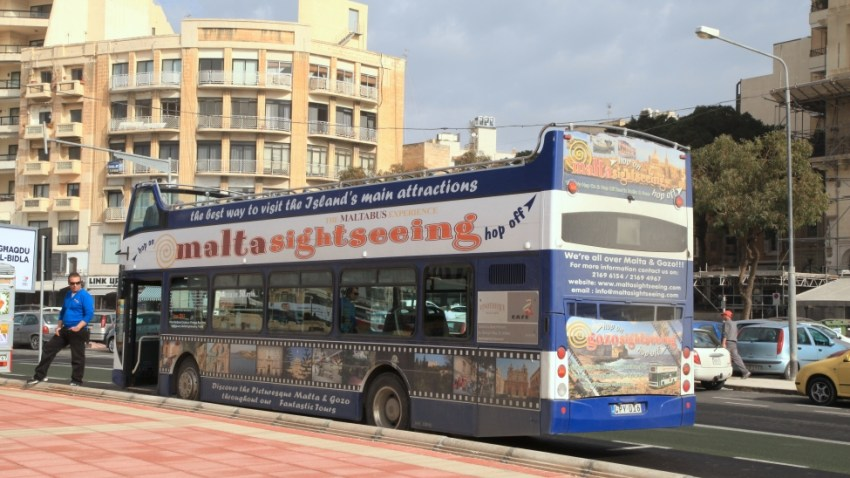 Morning Malta Nightmare Tour Bus