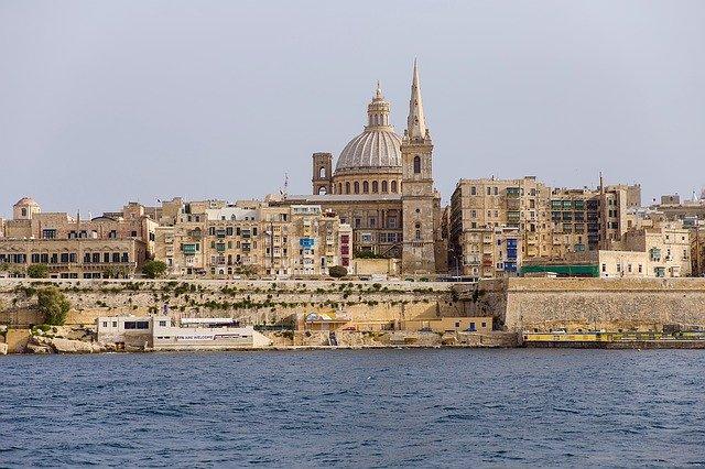 Malta Valetta Waiting on Tour Bus