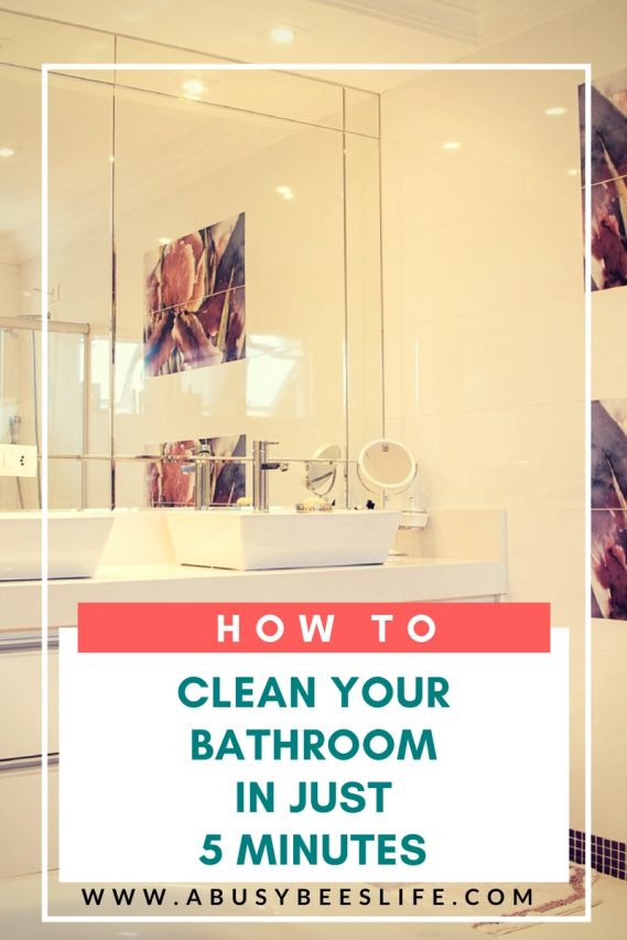 clean your bathroom in just five minutes every day
