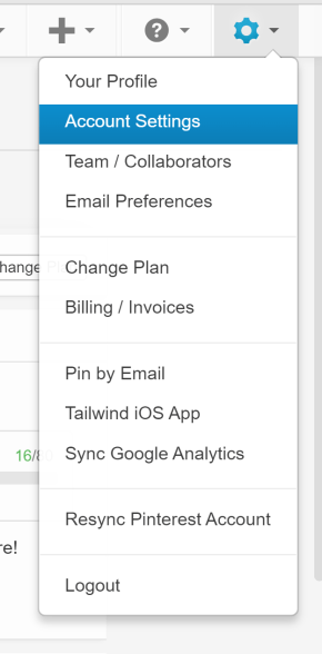 Screenshot Tailwind Dashboard Account Settings Page