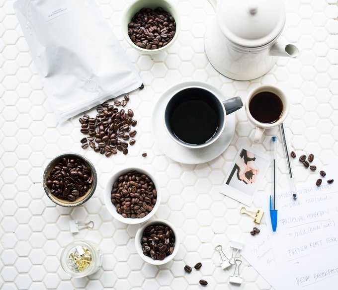 different types of coffee beans, coffee on table, espresso, black coffeee, coffee pot, abusybbeslife