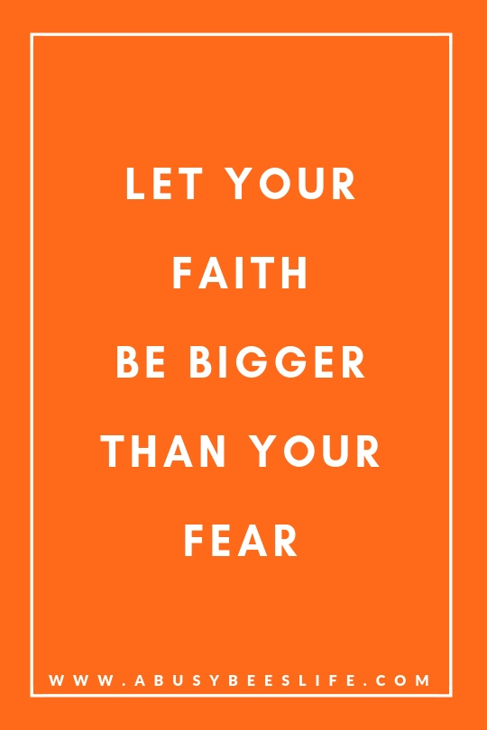 Let your faith be bigger than your fear. Life Quote, Breast Cancer Awareness Month
