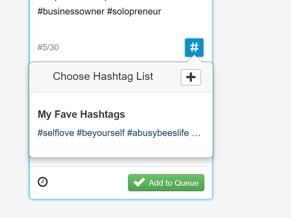 My Favourite Hashtags List