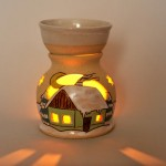 Oil burner house green