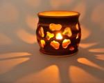 Tealight holder carved flowers