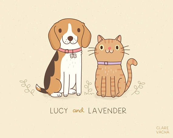 Custom Pet Portrait Illustration