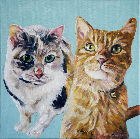 Custom Cat Oil Painting