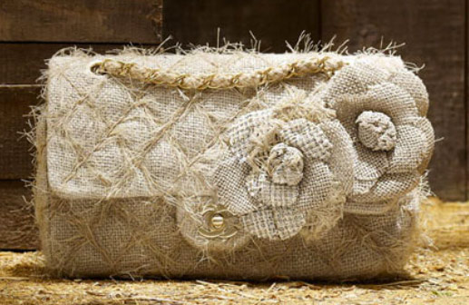Chanel quilted straw bag
