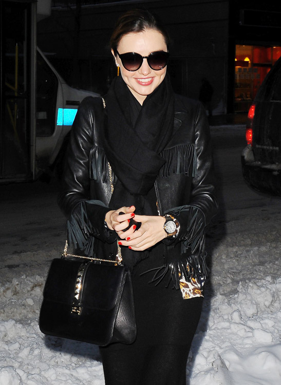 Miranda Kerr Doesnt Let Some Snow Keep Her Valentino In