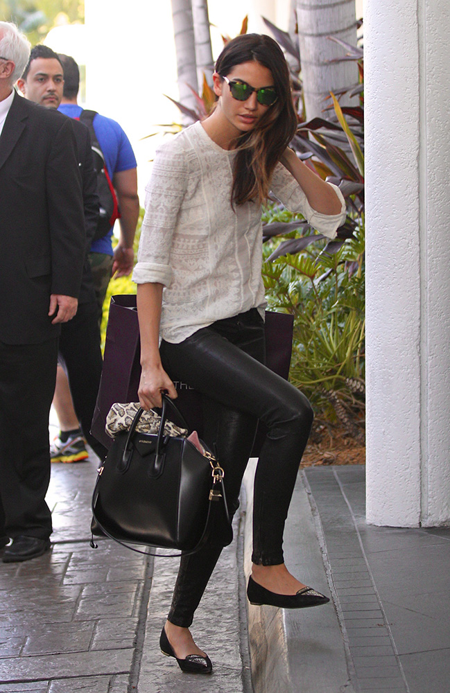 Just Cant Get Enough Lily Aldridge And Her Givenchy