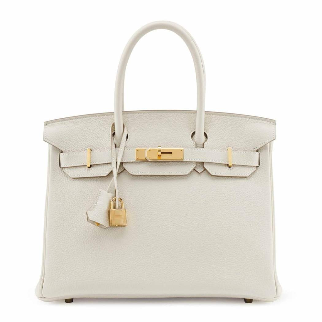 A CRAIE TOGO LEATHER BIRKIN 30 WITH GOLD HARDWARE sm