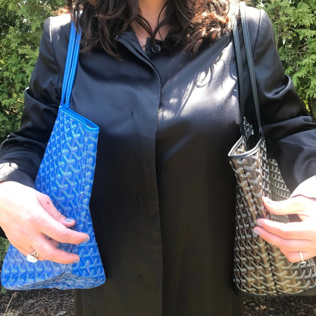 goyard saint louis tote GM blue