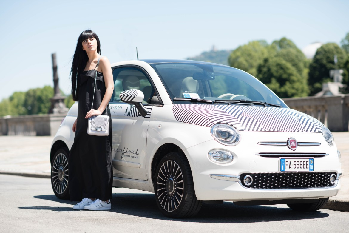 Your OptiCar Illusion: la mia borsa Braintropy abbinata alla Fiat 500