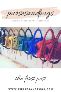 The first post from pursesandpugs, a fashion blog focusing on handbags and accessories.
