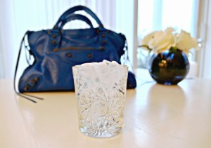 Three day water fast with a blue Balenciaga City bag and flowers