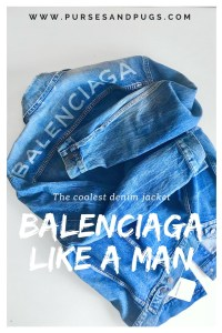 Balenciaga Like A Man denim jacket. The coolest oversized denim jacket!
