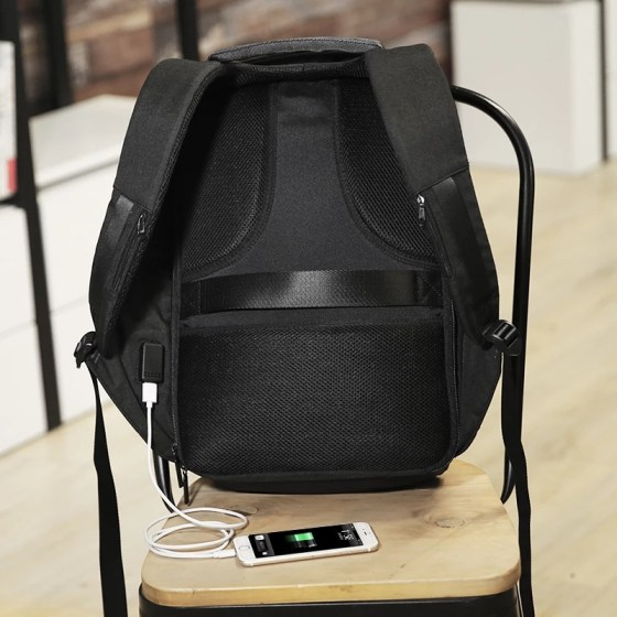 Fashion Anti-theft USB Charging Travel Laptop Backpack Mocchasio