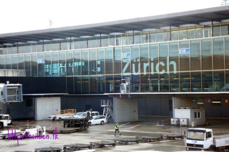 Willkommen im Zurich, Selamat datang di Zurich. Tersesat di Bandara Zurich