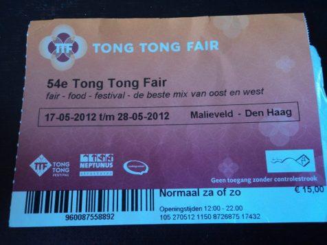 Tiket Masuk Tong Tong Fair 28 Mei 2012