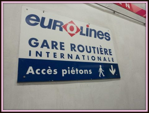 Stasiun Bus Euroline di Paris yakni Gallieni-gare Routiere International