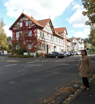 Lihat Warna daun-daun di Rumah samping Kiri, Cantik ya warna merah hati