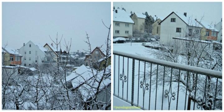Musim Dingin di Jerman Bagian 2. Pemandangan Salju dari Balkon Belakang. 16 Januari 2013
